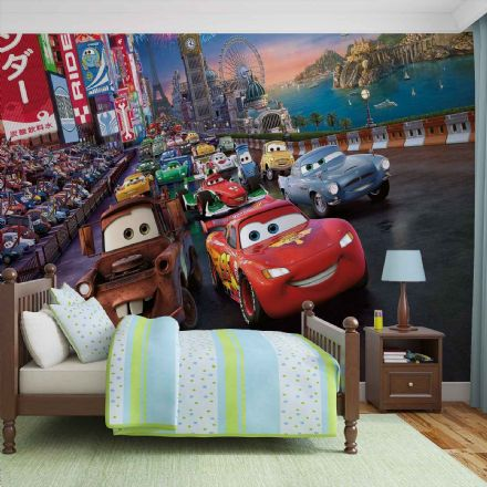 Wallpaper mural for boy's room Disney Cars